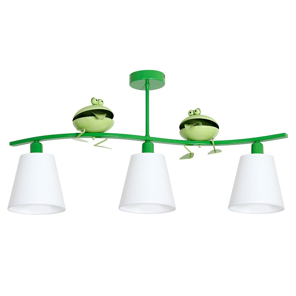 ZABA III   Frosch Kinderzimmerleuchte Kinderzimmerlampe Hängelampe Deckenleuchte Deckenlampe Kronleuchter