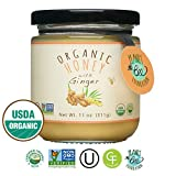 GREENBOW Organic Honey with Ginger - 100% USDA Certified Organic, Gluten Free, Non-GMO Organic Ginger Honey - Highest Quality Whole Food Organic Ginger Honey – 11oz (311g)