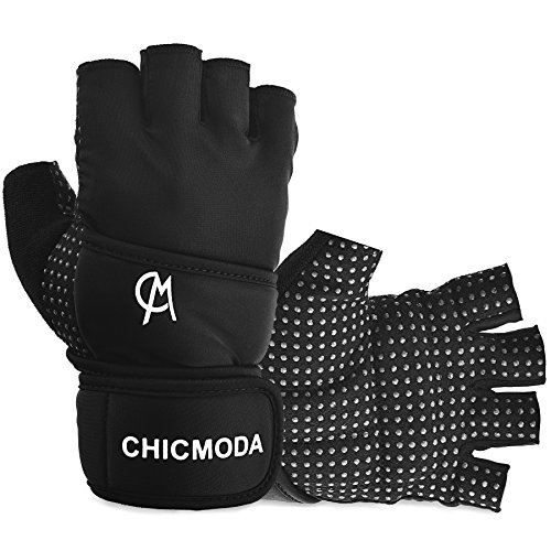 """CHICMODA Womens Mens Weight Lifting Gym Gloves with 18"""" Wris"""
