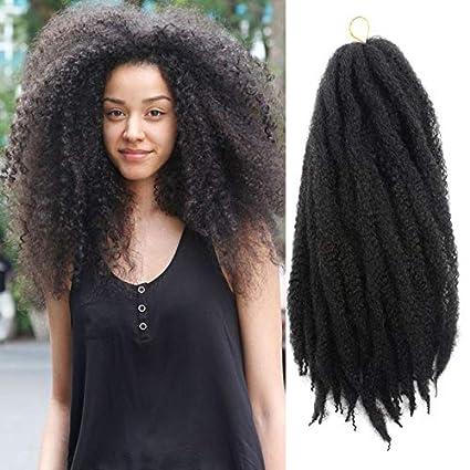 Enjoyable Marley Braids Hair Crochet Ombre Afro Kinki Kanekalon Synthetic Natural Hairstyles Runnerswayorg