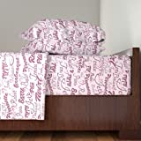Roostery Dance 4pc Sheet Set Ballet Words by Dancingwithfabric Queen Sheet Set made with