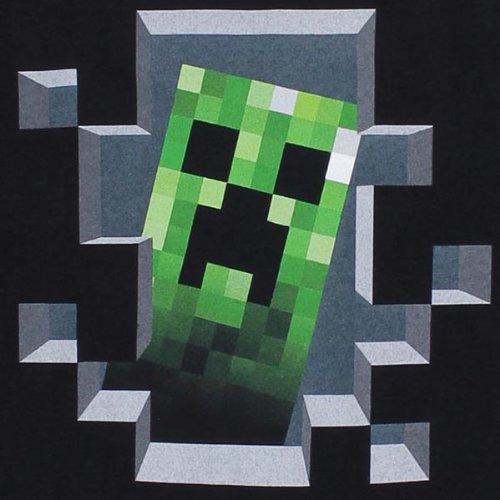 T-Shirt Minecraft Creeper Inside, Schwarz
