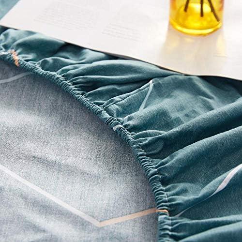 Couvre-Matelas en Coton Solide imprimé avec des Bandes élastiques à Quatre Coins 180cmX200cmX25cm jianai