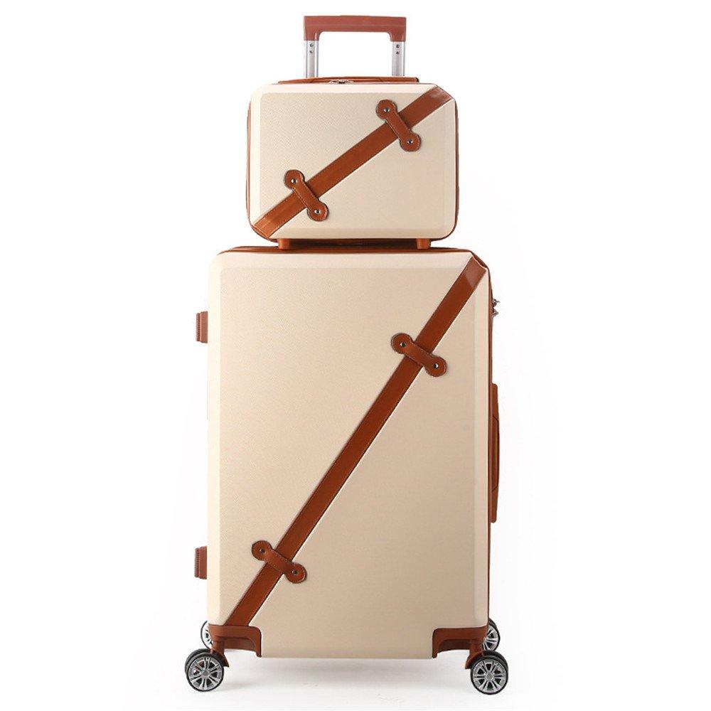サイレントスーツケース レトロ荷物プルロッドボックスユニバーサルホイール学生プルボックストラベルボックス女性パスワード20/24インチ旅行と搭乗 B07V2TLBJJ