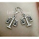 Silver Scales of Justice earrings for women-Lawyer Attorney Libra Scale jewelry gifts for women