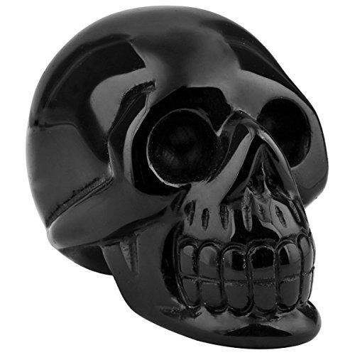 Crystal Skeleton (rockcloud Healing Crystal Stone Human Reiki Skull Figurine Statue Sculptures Black Obsidian 3