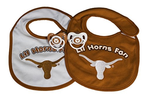 NCAA Texas Longhorns Infant Bib and Pacifier Set