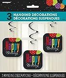 "26"" Hanging Birthday Cheer Decorations, 3ct"