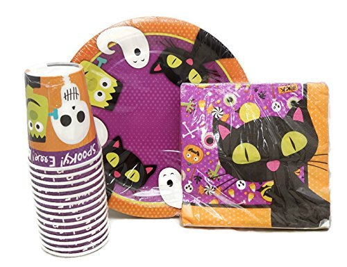 halloween theme party supplies pack halloween plates halloween napkins