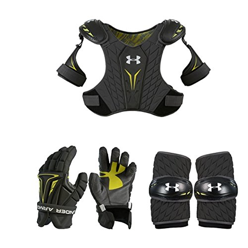 Boys Youth Lacrosse Starter Set (3 Piece) Arm Pads Gloves and Shoulder Pads Youth Sized