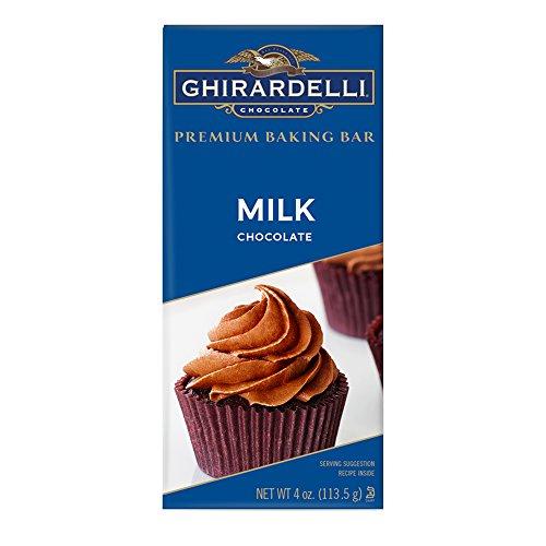 Ghirardelli Premium Baking Bar, Milk Chocolate, 4 Ounce (Pack of 12)