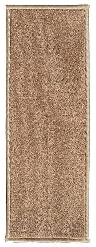 Ottomanson Skid-Resistant Rubber Non-Slip Carpet Stair Washable x Dark Beige