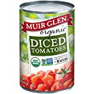 Muir Glen Canned Tomatoes, Organic Diced Tomatoes, No Sugar Added, 14.5 Ounce Can (Pack of 12)