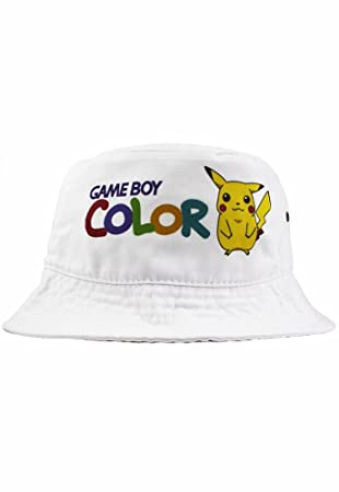style attrayant États Unis design professionnel Bob Chapeau Game Boy Color Pikachu Lorenzo Coton, Blanc ...