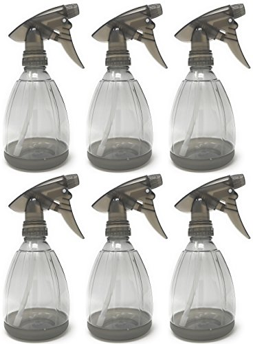 Plastic 12 Ounce Spray (Bar5F 12 Ounce Empty Spray Bottle, smoke grey (Pack of 6))