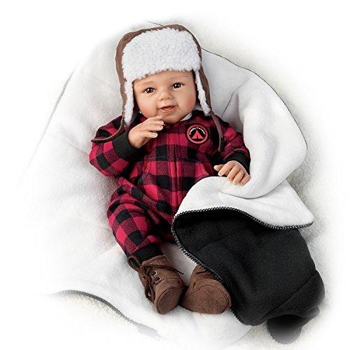 The Ashton-Drake Galleries So Truly Real Happy Camper RealTouch Vinyl Baby Doll with Fleece Sleeping Bag (Ashton Drake Dolls Boy)