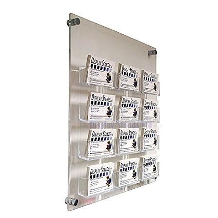 12bahía Panel de pared dispensador de tarjetas de visita (DS25/12C)