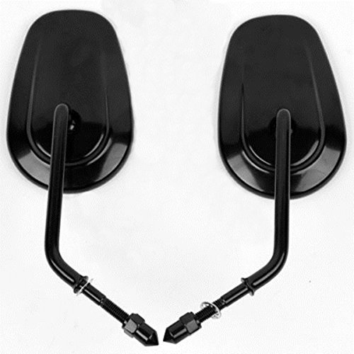 8mm Left Right Rear View Mirrors For Harley Davidson Sportster XL Softail Dyna