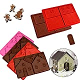 Taloyer Christmas Mini Gingerbread House Mold 3D Cake Cupcake Cookies Cutter Mould DIY Baking Decorating Tools (Random))