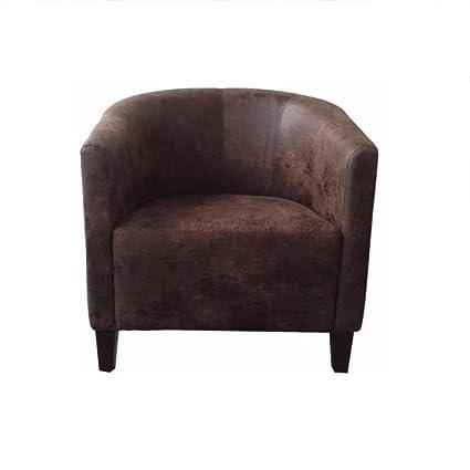 Excellent Amazon Com Tub Leather Chair Sofa Armchair For Dining Creativecarmelina Interior Chair Design Creativecarmelinacom