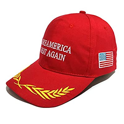 Opromo Embroidered Hip Hop Hat Make America Great Again Donald Trump Hats Adjustable