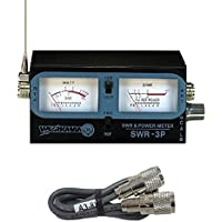 WORKMAN SWR-3P CB RADIO ANTENNA SWR / TEST METER WITH 3` BELDEN JUMPER COAX