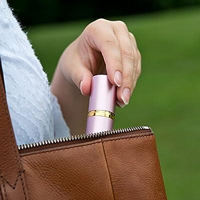 SABRE Red Lipstick Pepper Spray - Police Strength - Discreet, Pink, 10 Bursts & 10-Foot (3M) Range