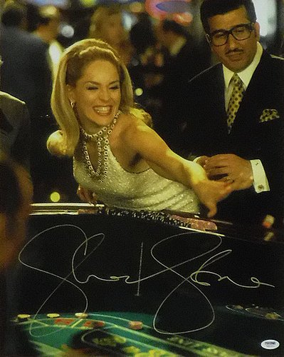 Sharon Stone Autographed Casino Ginger 16 x 20 Photograph Craps Table - PSA/DNA Authenticated - Autographed Celebrity Memorabilia from Sports Collectibles