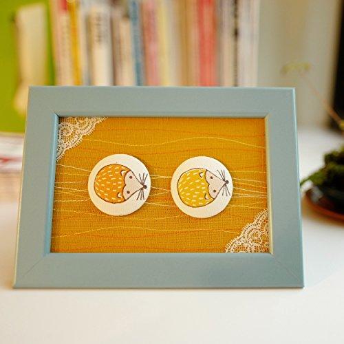 Framed Together (Framed Fabric Art - Go Forward Together / Hedgehogs)