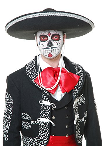 Charades Unisex-Adults Mariachi Sombrero, Black/Silver, One Size for $<!--$14.99-->