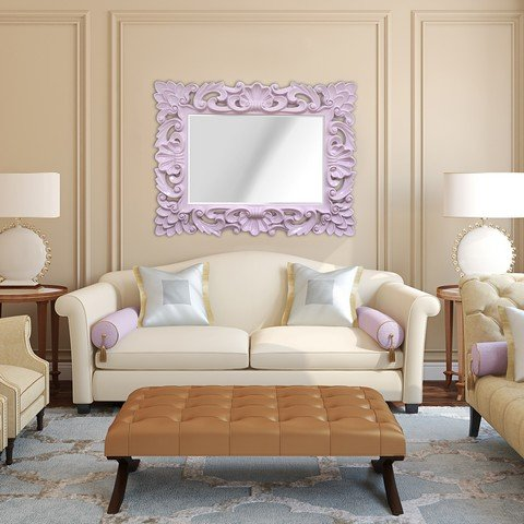 Stratton Home Decor SHD0099 Elegant Ornate Wall Mirror, Lavender by Stratton Home Decor