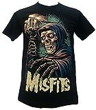 Search : Misfits Candle Skeleton American Punk Rock Band T Shirt Black