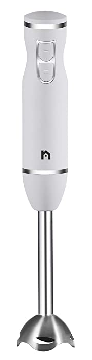 New House Kitchen Immersion Hand Blender 2 Speed Stick Mixer with Stainless Steel Shaft & Blade, 300 Watts Easily Purees Food Ivory