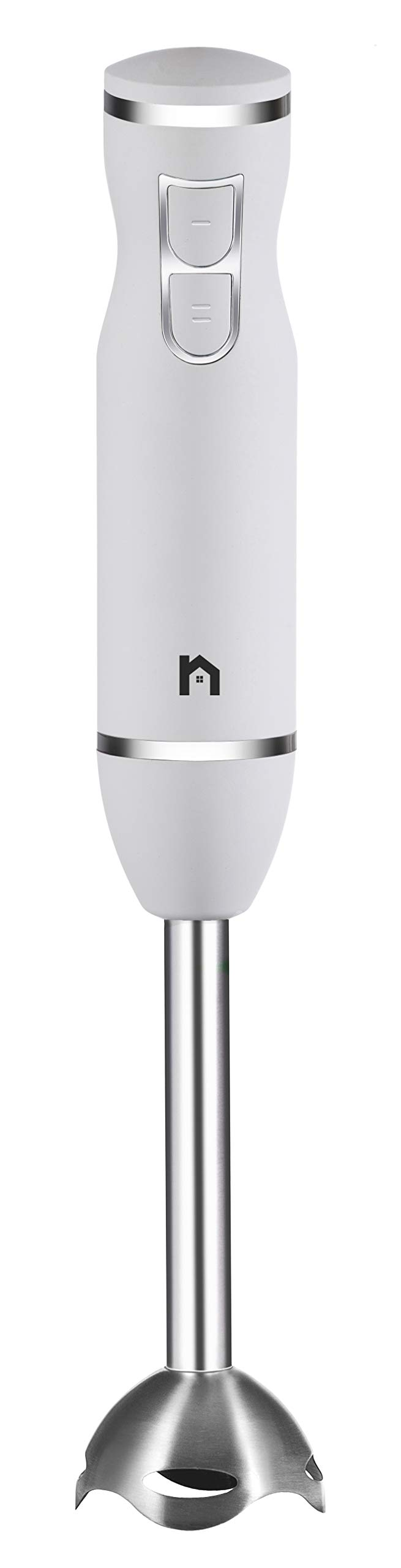 New House Kitchen Immersion Hand Blender 2 Speed Stick Mixer with Stainless Steel Shaft & Blade, 300 Watts Easily Food, Mixes Sauces, Purees Soups, Smoothies, and Dips, Ivory