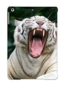 Durable Protector Case Cover With Animal White Tiger Hot Design For Ipad Air (ideal Gift For Lovers)