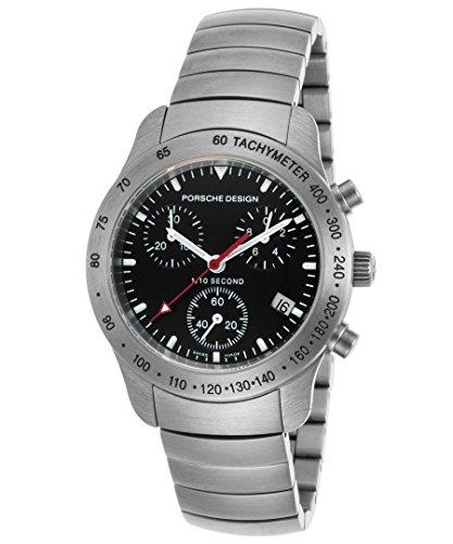 Porsche Design 6604-41-40-0255 Women's Chronograph Stainless Steel Black Dial Stainless Steel Watch