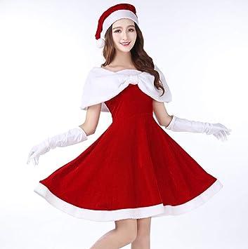 WFTD Disfraz de Papá Noel para Mujer, Vestido de Noche de ...