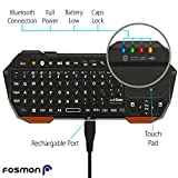 Fosmon-Portable-Lightweight-Mini-Wireless-Bluetooth-Keyboard-Controller-QWERTY-keypad-with-Built-In-Touchpad-for-Apple-iOS-Android-Windows-Smartphones-Tablets-PS3-PS4-Laptop-Notebook-and-others-Black-