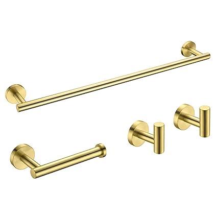 Amazon.com: Hoooh BS100-P - Juego de 4 accesorios de baño de ...
