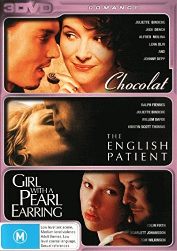 Chocolat / The English Patient / Girl With A Pearl Earring DVD [3 Discs]