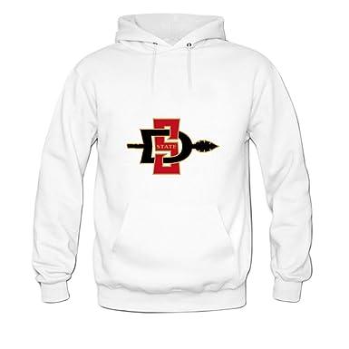 Amazon.com  San Diego State University Shows Tweaked Mens hoody Sweatshirt  M White  Clothing a5e3685e0