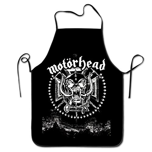 Motorhead Snaggletooth Adjustable Kitchen Aprons Funny Women Apron (Nate Ruess Christmas)