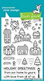 LAWN FAWN Clear Stamps 4''X6'' Winter Village (LF1472)