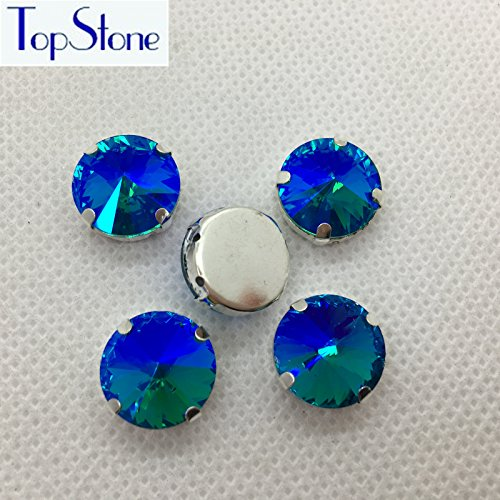 Generic 8mm 84pcs   All Sizes Aquamarine AB Color Rivoli Sewing Claw  Rhinestones Glass Sew On Crystals for Clothing Dresses Decoration  Accessory  Amazon.in  ... d94fa0a9e874