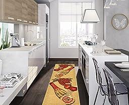 Ottomanson Siesta Collection Kitchen Wine Design (Machine-Washable/Non-Slip) Runner Rug, 20\