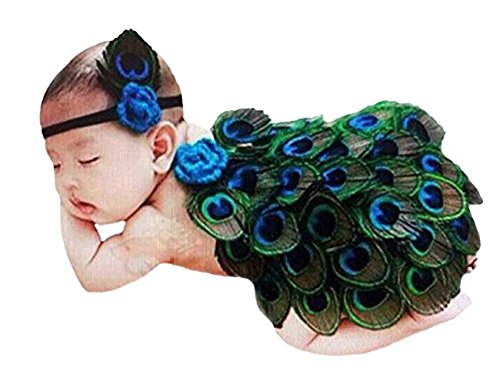 THEE Newborn Baby Peacock Costume Infant Photography