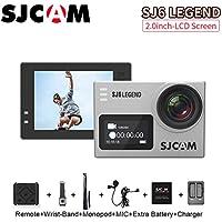 SJCAM SJ6 Legend Sports Action Camera Helmet Sports DV Camera Waterproof 4K 1080P Camcorder, with Mounting Accessories