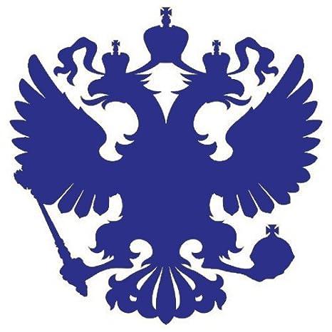 11 x 11 cm, nero 2x Adesivo per auto Герб России 2x Car Sticker Stemma della Russia