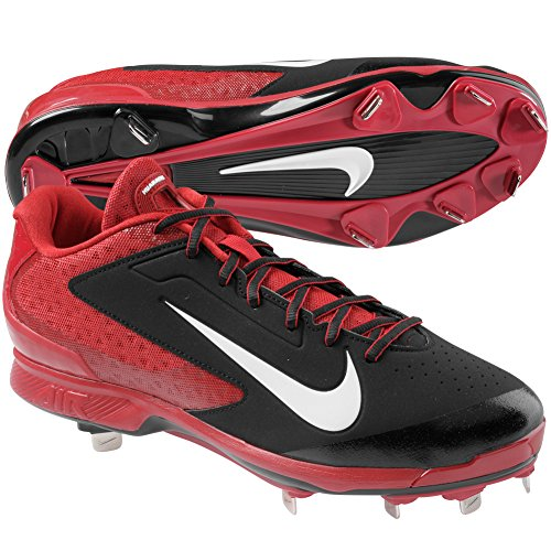Nike Mens Air Huarache Pro Low Metal Cleats 10 US Black/Red