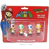 Super Mario 6cm Toad Minifiguren 4er Set [import allemand]
